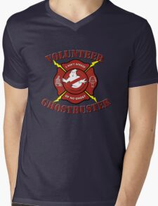 Volunteer Ghostbuster (Clean) Mens V-Neck T-Shirt