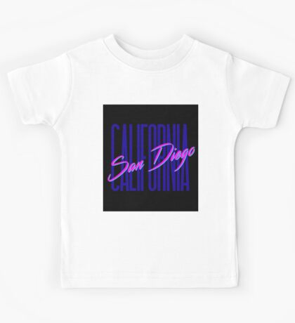 Retro 80s San Diego, California Kids Tee