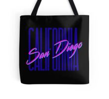 Retro 80s San Diego, California Tote Bag