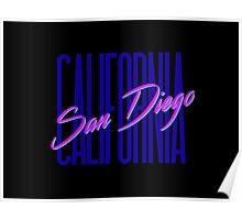 Retro 80s San Diego, California Poster