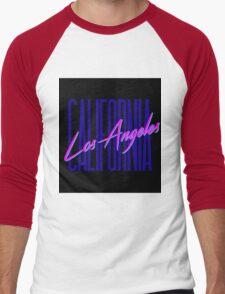 Retro 80s Los Angeles, California Men's Baseball ¾ T-Shirt