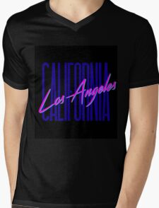 Retro 80s Los Angeles, California Mens V-Neck T-Shirt