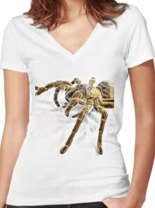 Wild nature - spider Women's Fitted V-Neck T-Shirt