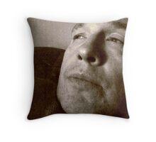 Somber Guy Throw Pillow