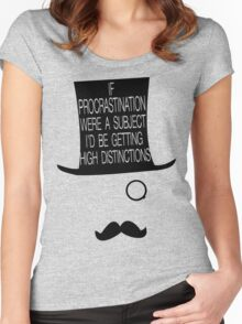 Man of Distinction Women's Fitted Scoop T-Shirt