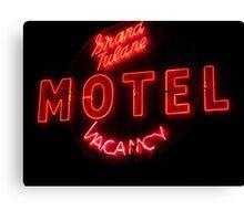 Grand Tulane Motel Vacancy Canvas Print