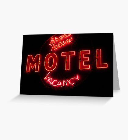 Grand Tulane Motel Vacancy Greeting Card