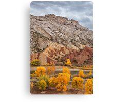 Split Mountain Color Canvas Print