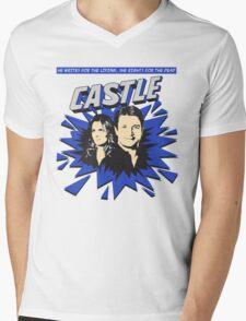 Castle Comic Cover Mens V-Neck T-Shirt