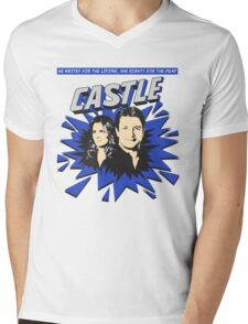 Castle Comic Cover Mens V-Neck T-Shirt