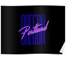 Retro 80s Portland, Oregon Poster