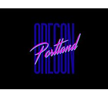 Retro 80s Portland, Oregon Photographic Print