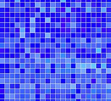 Blue Mosaic [iPhone / iPad / iPod Case] by Damienne Bingham