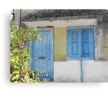 Greek Island blue house #photography Canvas Print