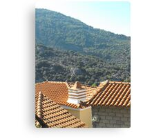 Greek Island rooftop #photography Canvas Print