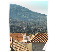 Greek Island rooftop #photography Poster
