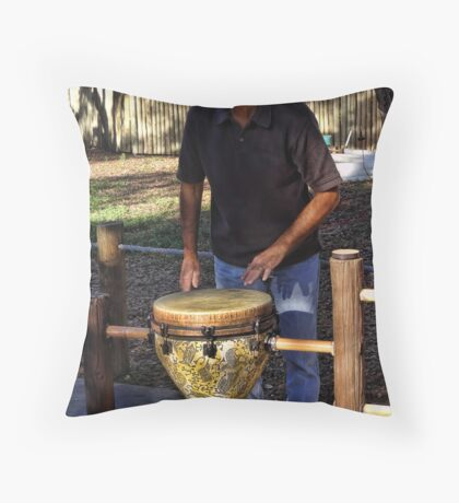 Just wanna bang on my drum all day Throw Pillow