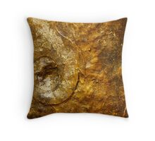 Bronze and Gold Wall Art Throw Pillow