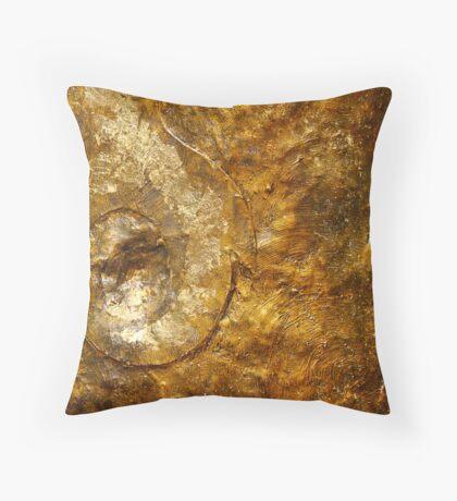 Bronze and Gold Wall Art Throw Pillow