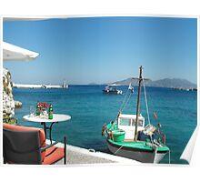 Greek Island Samos restaurant 2 #photography Poster