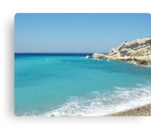 Greek Island Samos Beach 3 #photograph Canvas Print