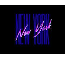 Retro 80s New York City, NY Photographic Print