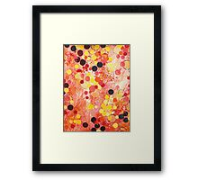PERSONAL BUBBLE - Hot Pink Bubblegum Pop Fun Whimsical Circles Abstract Acrylic Painting Gift Framed Print