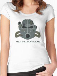 Brotherhood of Steel T-45 Helmet Women's Fitted Scoop T-Shirt