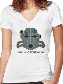 Brotherhood of Steel T-45 Helmet Women's Fitted V-Neck T-Shirt