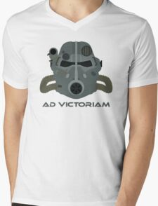 Brotherhood of Steel T-45 Helmet Mens V-Neck T-Shirt