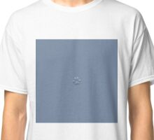 Icy relief, real snowflake macro photo Classic T-Shirt