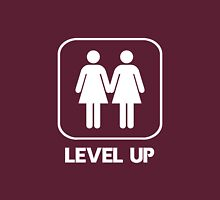 Level Up Girls White Womens Fitted T-Shirt