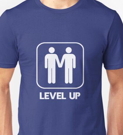 Level Up Guys White Unisex T-Shirt