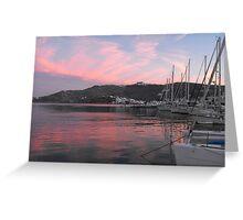 Sunset at Patmos harbor 2 #photography Greeting Card