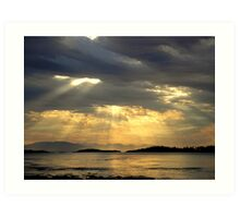 Sunrise at  Rathtrevor Provincial Park Art Print