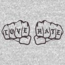 Love Hate (grey) by cooljules