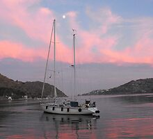 Sunset at Patmos harbor 2 #photography by SlavicaB