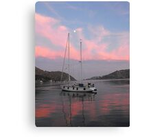 Sunset at Patmos harbor 2 #photography Canvas Print
