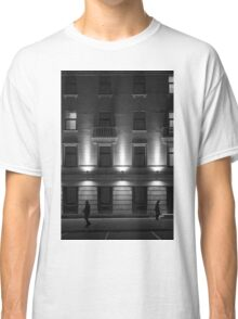 Illuminated Building with People Classic T-Shirt