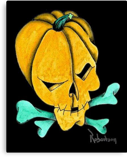 Pumpkin Skull by Thomas Robertson II