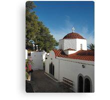 Greek Island Church  #photography Canvas Print