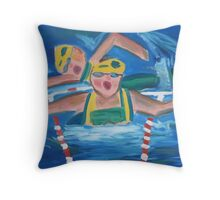 Belinda Peel 'Swimmers' Throw Pillow