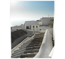 Greek Island rooftop 1 #photography Poster