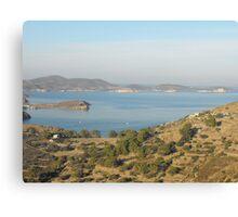 Greek Island Landscape Canvas Print