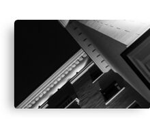 Monochrome Black and White Building Abstract Canvas Print