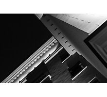 Monochrome Black and White Building Abstract Photographic Print