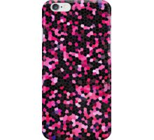 Pink and black mosaic design iPhone Case/Skin