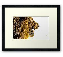 Wild nature - lion Framed Print
