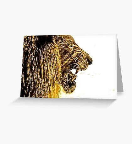 Wild nature - lion Greeting Card