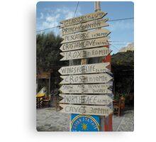 Kalymnos Greek Island direction Canvas Print